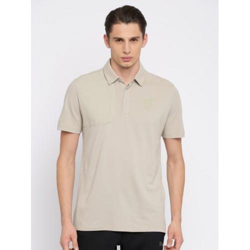 1821d0d176f Buy Puma Men Beige Solid Ferrari Polo Collar T-shirt online ...