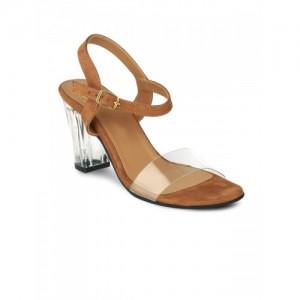 20Dresses Women Brown Solid Sandals