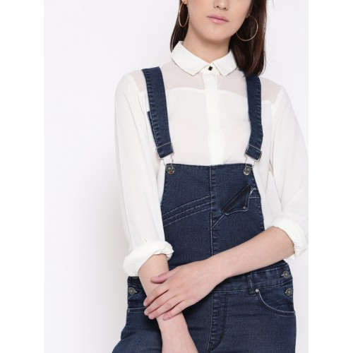 Devis Blue Washed Denim Dungarees