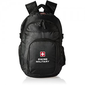 ad6e77d99d91 Swiss Military Polyester 25 Ltrs Black Laptop Backpack (LBP58)