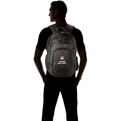 Swiss Military Polyester 25 Ltrs Black Laptop Backpack (LBP58)