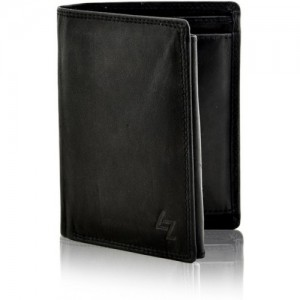 Leather Zentrum Men Black Genuine Leather Wallet