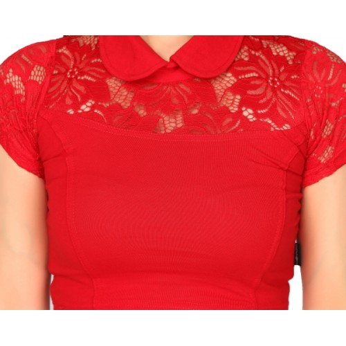 Carrel Fashion Neck Women's Stitched Blouse