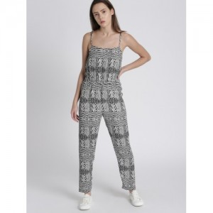 Chemistry Grey & White Printed Jumpsuit