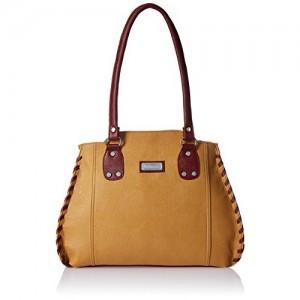 Fantosy Beige and Maroon PU Women's Handbag (FNB-214-1 )