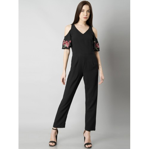 625890d1f10 FabAlley Black Solid Basic Jumpsuit  FabAlley Black Solid Basic Jumpsuit ...