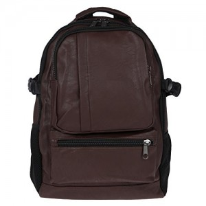 Fur Jaden Brown Artificial Leather Laptop Backpack Bag for Men 315e804866c06