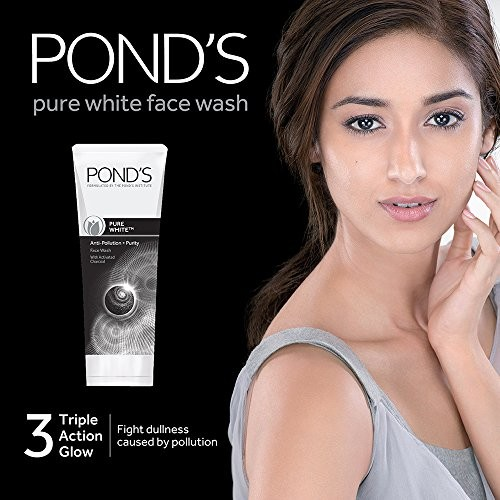 Pond's Pure White Anti Pollution Face Wash, 100 g