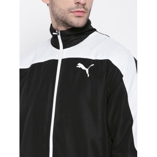 Puma Men Black & White Evostripe Tracksuit