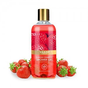 Vaadi Herbals Shower Gel, Blushing Strawberry, 300 ml