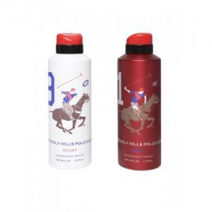 Beverly Hills Polo Club Sport Men Deodorant Body Sprays- Pack of 2