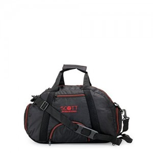 Scott Sports Polyester Black Multipurpose Gym Bag and Casual Backpack