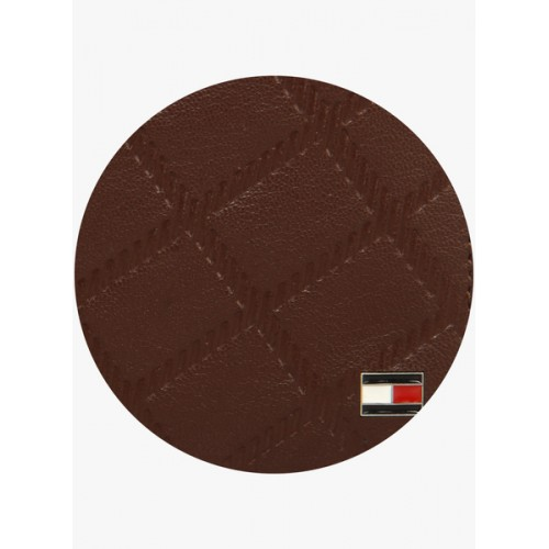 Tommy Hilfiger Men Brown Textured Two Fold Wallet
