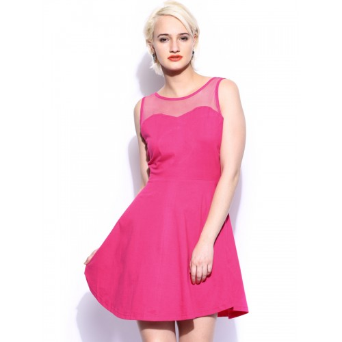628df85a489d ... Miss Chase Women'S Pink Round Neck Sleeveless Bodycon Dresses Plain  Jersey Dresses ...