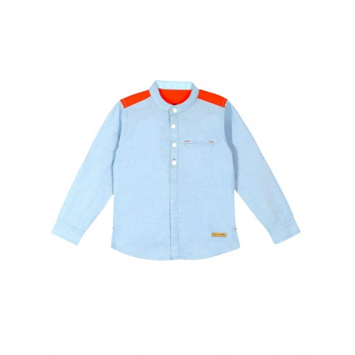 Blue Cotton Shirt By Cherry Crumble