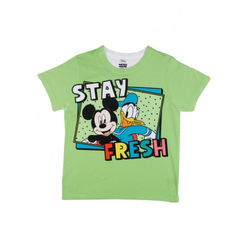 Green Polyester Tshirt By Mickey And Friends