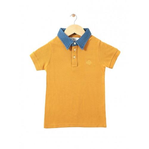 Mustard Cotton Tshirt By CHIMPRALA