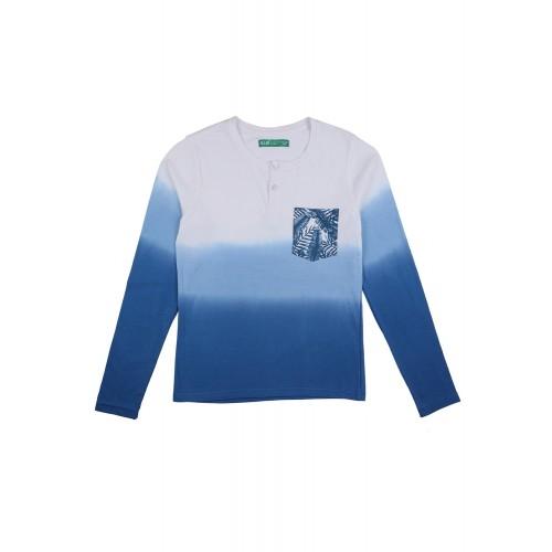Blue Cotton T-Shirt By Slub Junior