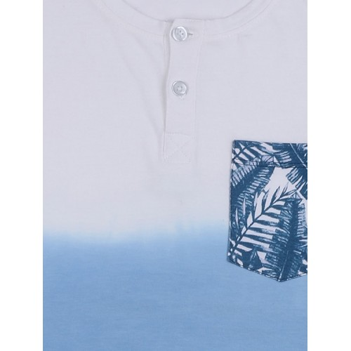 Blue Cotton T-Shirt By Slub Junior