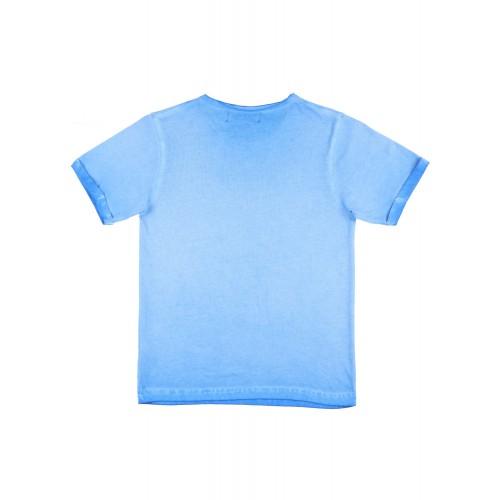 Blue Cotton Tshirt By Slub Junior