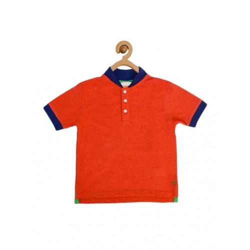 Orange Cotton Tshirt By Five Stone