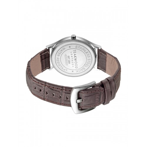 Teakwood Leathers Men Silver-Toned Analogue Watch WTH_A_12