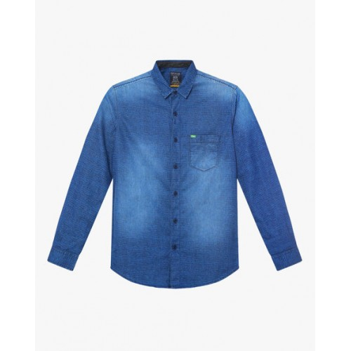 SPYKAR Slim Fit Shirt with Patch Pocket