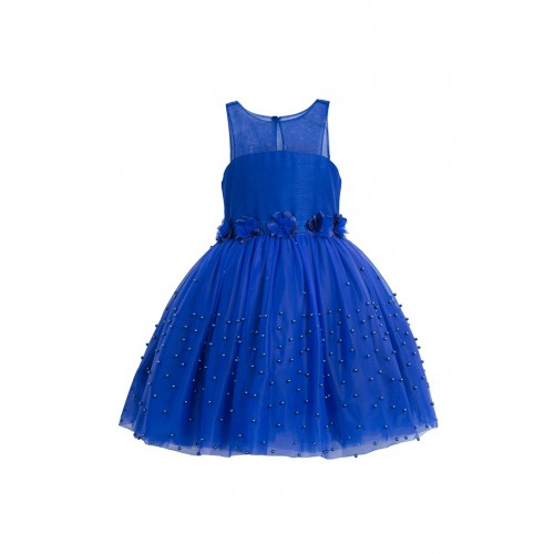 Toy Balloon Kids Solid Royal Blue Polyester Gown