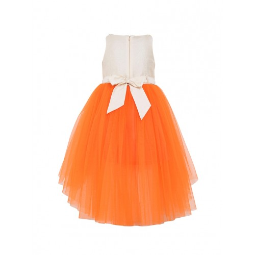 Toy Balloon Kids Orange Polyester Floral Embroidery Gown
