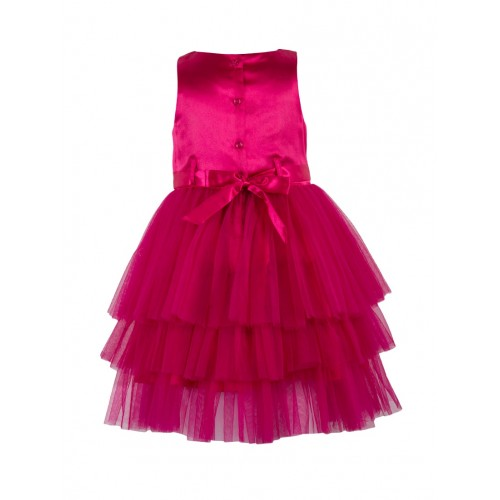 Toy Balloon Kids Pink Net Party Gown