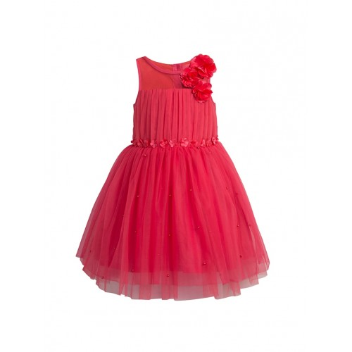 Toy Balloon Kids Solid Coral Polyester Gown