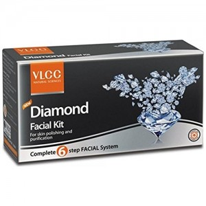 VLCC New Diamond Facial Kit for skin polishing and purification 50g+10ml pack of 6  (6 x 8.33 g)
