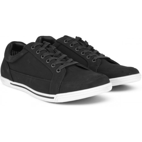 Kenneth Cole Black PU Lace Up Casual Shoes