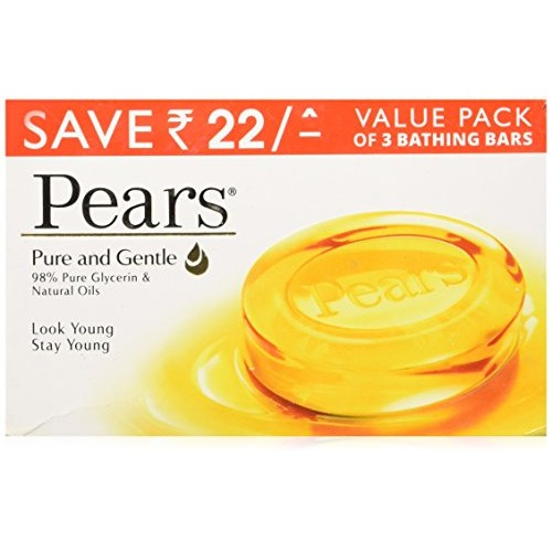Pears Pure and Gentle Soap Bar - Pack of 3
