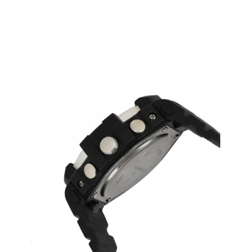 SANDA Men Black Analogue and Digital Watch S735BKSLR