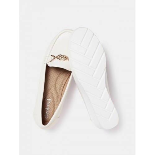 ... DressBerry Women White Solid Casual Shoes ...