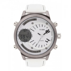 FLUID Men White Analogue and Digital Watch FL-1225