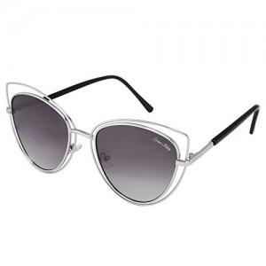 Silver Kartz Black Gradient Double-Link Aviator Cat eye Sunglasses (wy217)