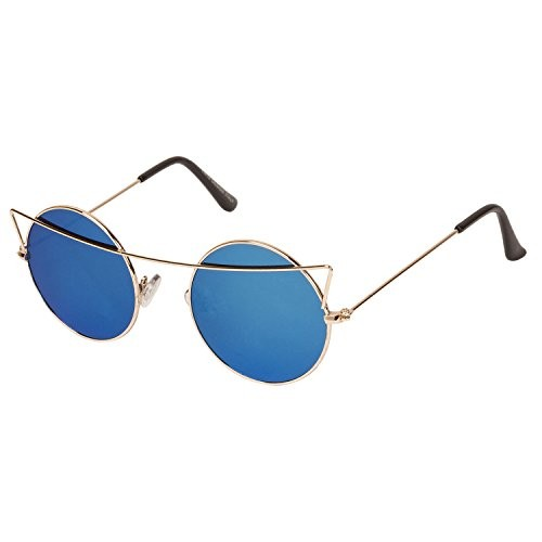 Arzonai Griffin Blue Round Shape UV Protected Sunglasses for Men & Women (MA-004-S3)
