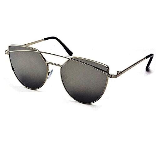 Silver Kartz Aviator Unisex Sunglasses(Wy144|65|Black)