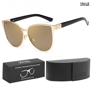 RazMaz™ Brand Oversized Cat Eye Mirrored Women Sunglasses Vintage Cateye Sun Glasses