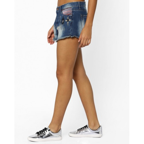 Ginger by lifestyle Denim Shorts with Frayed Hems