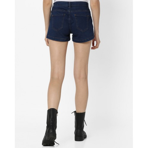Ginger by lifestyle Blue Mid-Rise Denim Shorts