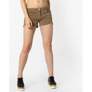 Ginger by lifestyle Brown 5-Pocket Denim Shorts