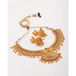 Voylla Designer Satva Gold Plated Necklace Set