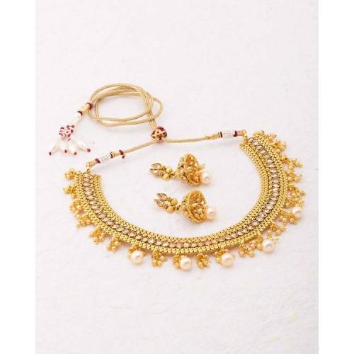 Voylla Opulent Gold Plated Sanskriti Necklace Set