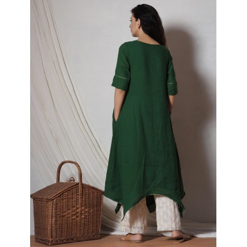 TrueBrowns green kurta bottom set