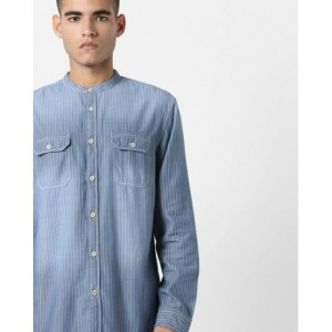 Jack & Jones Slim Fit Striped Shirt with Dyed Effect