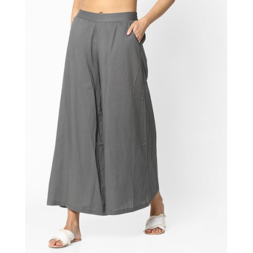 a97dcc4e520f1d Buy AJIO Mid-Rise Palazzo Pants online | Looksgud.in