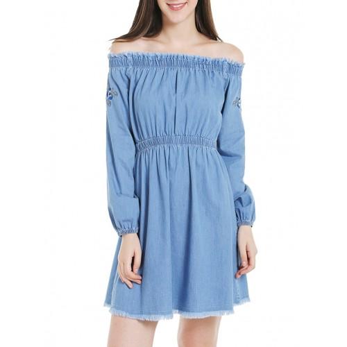 Tarama light blue denim dress
